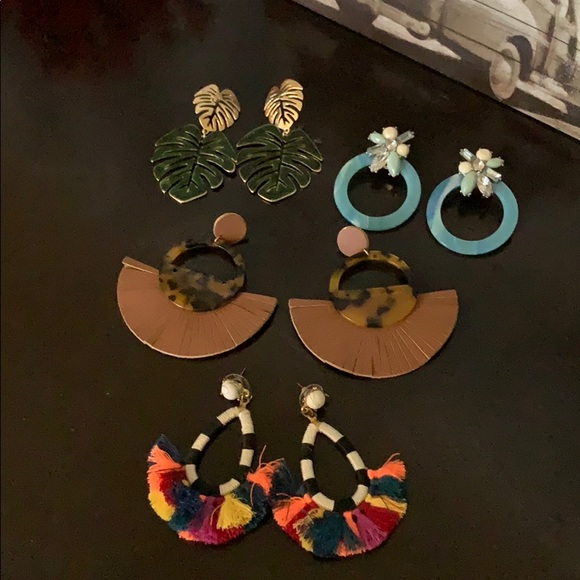 Charming Charlie Jewelry - Set of 4 pairs of earrings